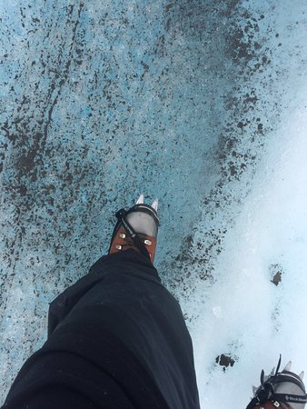 Kennicott, AK : First time wearing crampons!