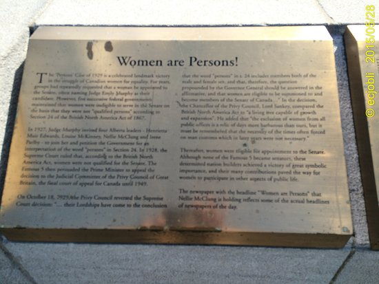 Ottawa, Canadá: Women are Persons