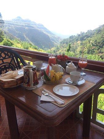 Paddyfield Guest House: Ontbijt mèt uitzicht!