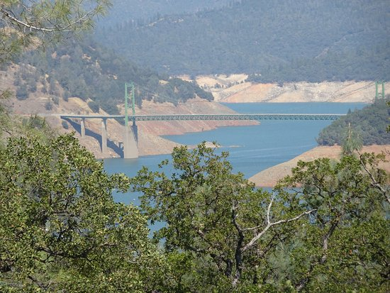 a section of Lake Oroville, looking east from the observation deck