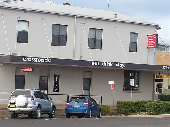 Narrabri, Australia: Great Beer Garden at Crossroads