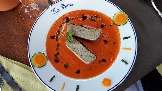 Auberge La Borie : Pain de caviar d'aubergine