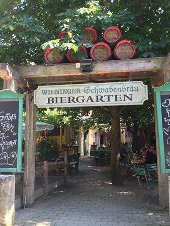 Wieninger Schwabenbrau: Biergaten