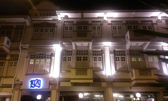 Hotel 1929: Facade at night time :)