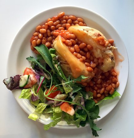 North Star Piccadilly: Jacket potato with cheese and beans