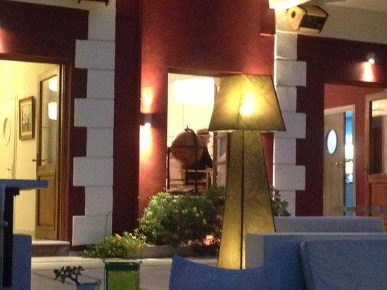 cool bar light - Picture of Villa Rossa Restaurant, Parga - TripAdvisor