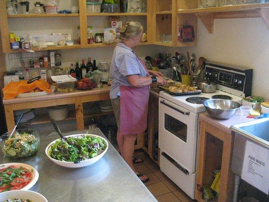 Southwest Nova Scotia, Canada: Freshky prepared meals at the Harrison Lewis Centre's summer workshops