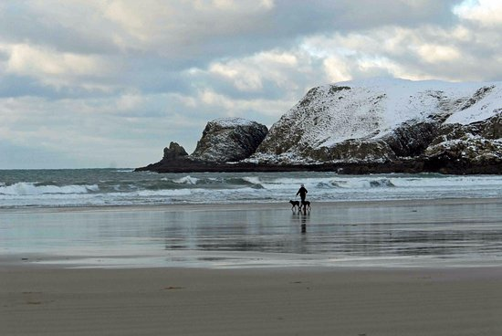 Bettyhill, UK: Farr Beach in winter