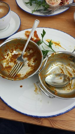 Gurnard, UK: Here was the best curry in the world! Irresistible