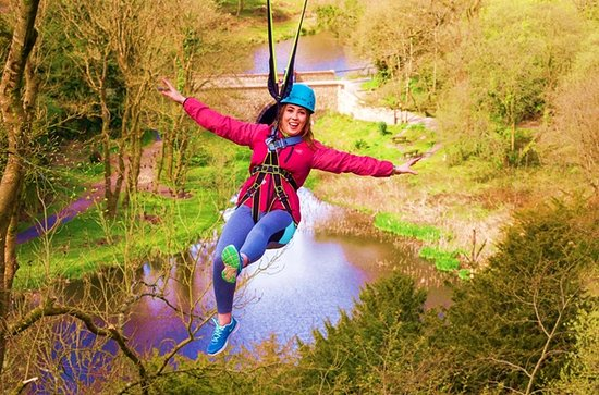 Castlecomer, Irland: Home to Ireland's longest over-water zipline at 300m long and 35m high