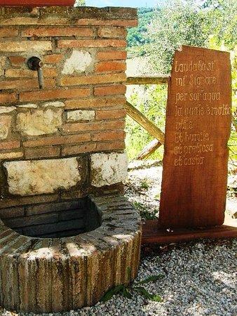 Gagliole, Italy: ...sor'acqua, San Francesco docet...