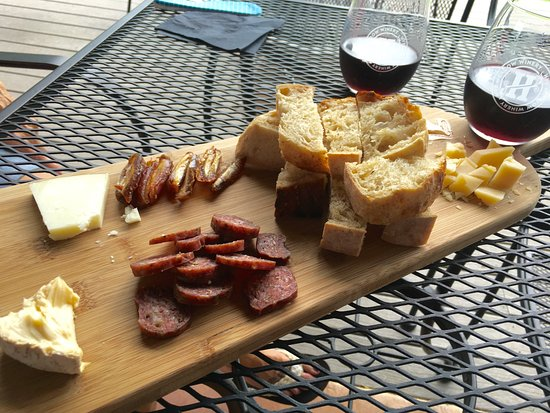 Hye, TX: Our cheese plate.
