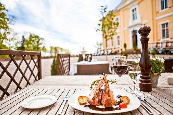Swisttal, Deutschland: Die Terasse ist ein Traum bei schönem Wetter!