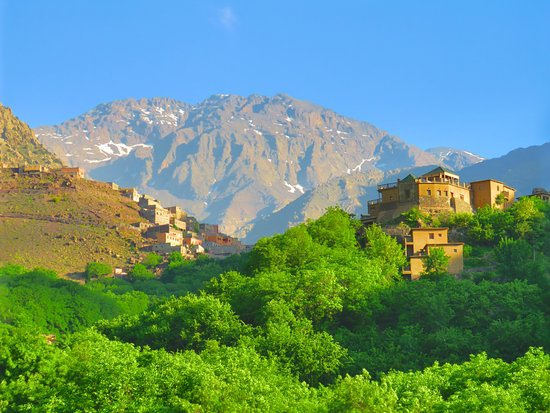 Dar Imlil : View of Toubkal from the Roof