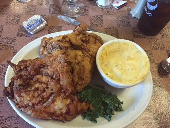 Park Rapids, MN: Broasted Chicken and Scalloped Potatoes