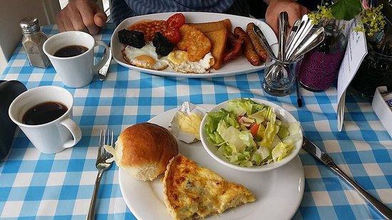 Excellent food at the Lyvennet Cafe, based at Maulds Meaburn Village Institute