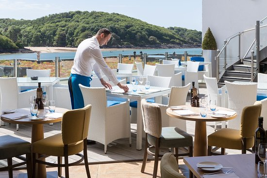 Salcombe Harbour Hotel & Spa: The Jetty Terrace