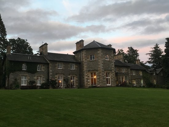 Contin, UK: The Hotel seen from the Grounds at Sunset