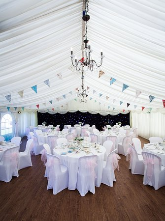 Louth, UK: The wedding reception in the Marquee