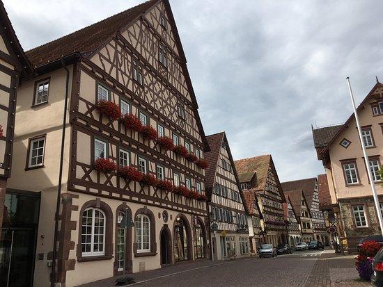 Vakwerkhuizen in de historische altstadt.