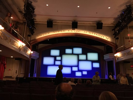 Goodspeed Opera House : The view from near the back of the house, set for Bye Bye Birdie