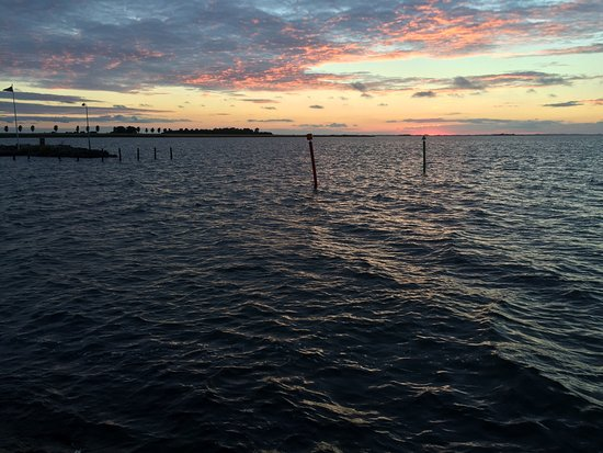 Nakskov, Danimarka: Overweldigende natuur vanaf het havenhoofd.