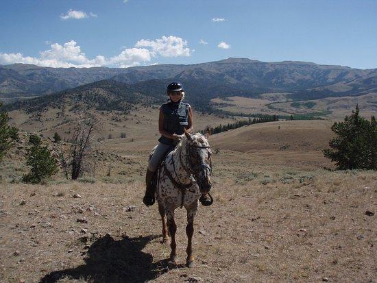 Bitterroot Ranch : Riding Millie, an excellent horse!