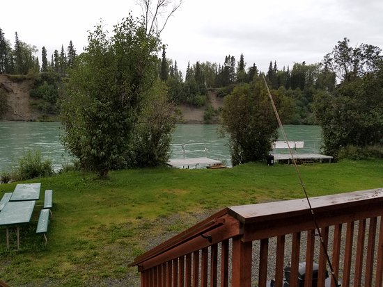 RW's Fishing & Big Eddy Resort : Kenai river out our door.