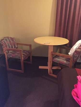 Ogallala, NE: this is the table that was not level and the chair that was broken