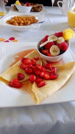 Sainte-Flavie, Canadá: Excellent petit déjeuner