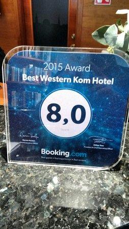 BEST WESTERN Kom Hotel Stockholm: Bien