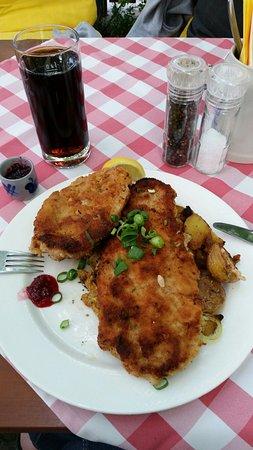Aschheim, Germania: € 10,50 per un piatto che potrebbe bastare tranquillamente per due persone. Ottimo!