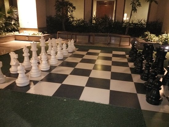 Greater Noida, India: Life size chess