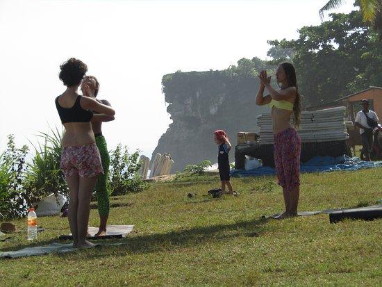 Jimbaran, Endonezya: Наше занятие и мой сын)