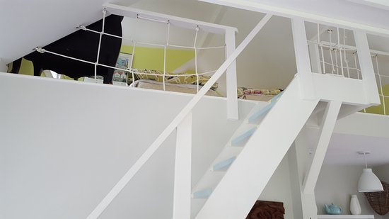 Duxbury, MA: Stairs Leading to the Upstairs Loft which had 2 Twin Beds
