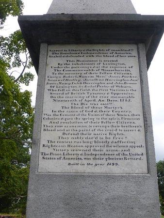 Lexington, MA: Memorial To The Dead