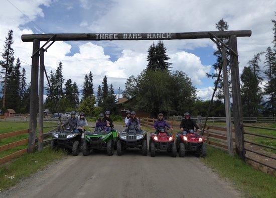 An afternoon with ATVs at Three Bars Ranch, Cranbrook, Canada