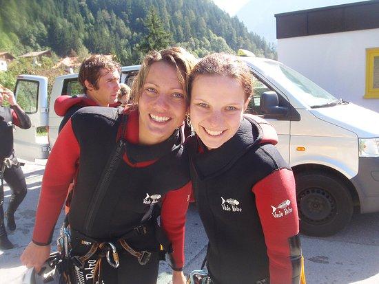 Haiming, Österreich: nice girls in the canyoning tour auerklamm