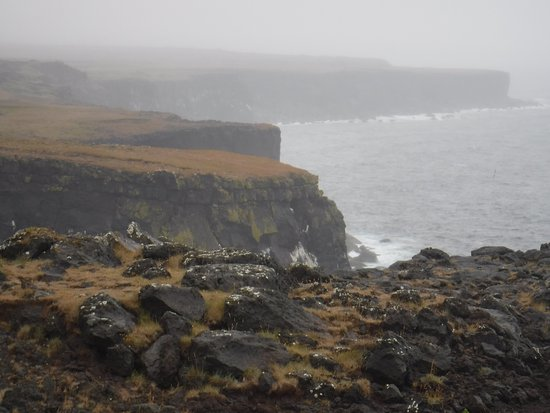 Londrangar Basalt Cliffs: Looking east