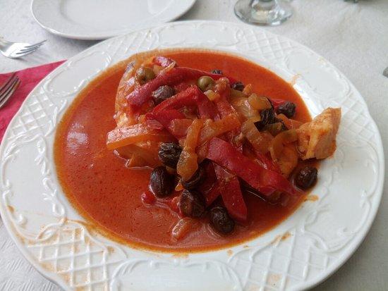 San Juan de la Rambla, España: Bacalao en salsa