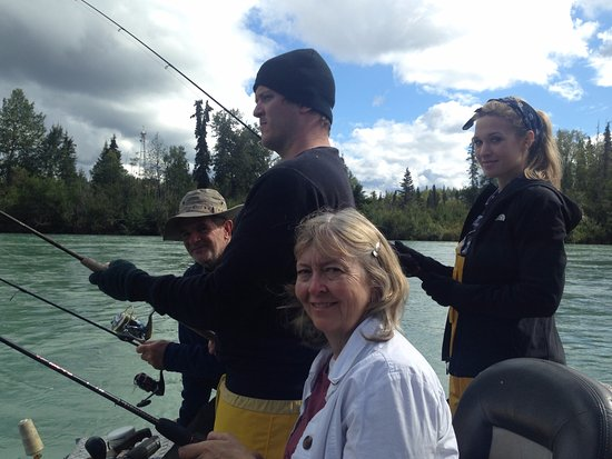Alaska Fishing & Lodging: Silver fishing on the Kenai