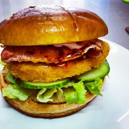 Лонг-Итон, UK: Chicken stacker burger