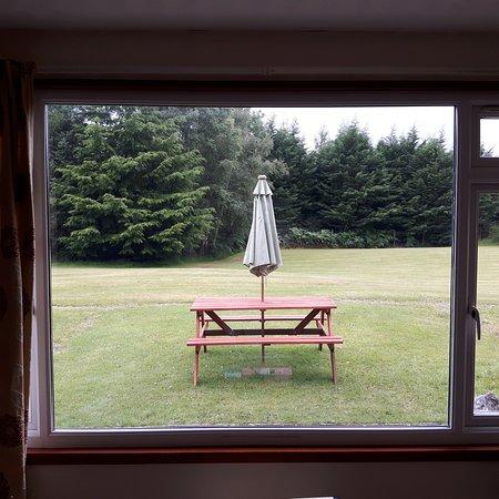 Balnain, UK: Blick aus Lodge Nr. 4