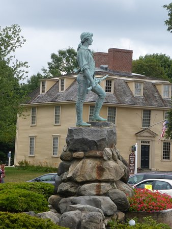 Lexington, MA: Minute Man Statue(Parker) Tavern In Background