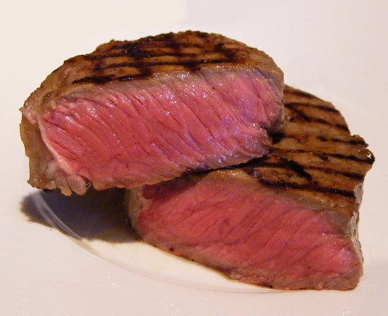 Eamont Bridge, UK: This photo is how I expect a medium rare steak to be. My 2nd steak came out almost blue.