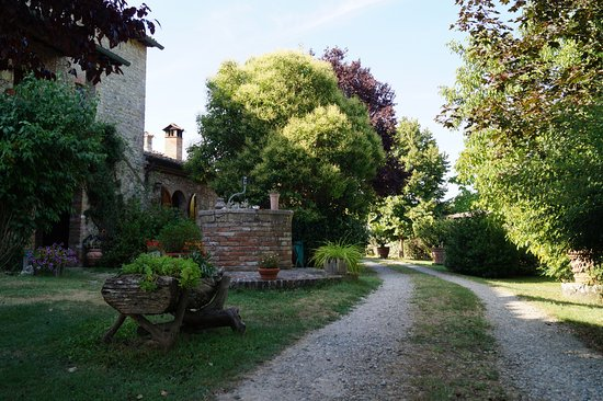 Palazzo a Merse B&B: Il giardino e parte della struttura.