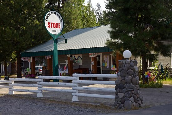 Fort Klamath, OR: Camper store with limited fresh fruit, wine, beer, sodas, supplies and some vegetables