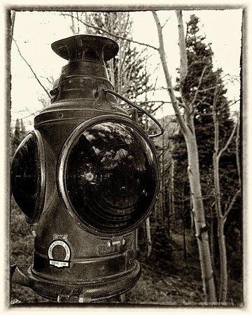 Antonito, CO: Cumbres & Toltec Narrow Gauge Railroad Lantern, Aug 2016.