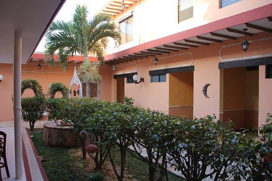 Hotel Plaza: Jardin y Restaurante