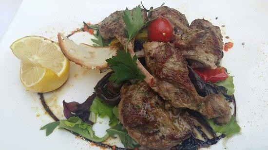 Al Gallo Nero Hotel Seehof: Wunderbar: Koteletts vom Lamm